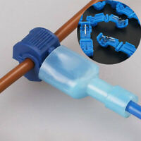 50pcs Quick Splice Lock Wire Terminals Connectors Electrical Crimp Cable Snap