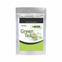 Green Tea 2000mg Capsules Strong High Strength Diet Pill Weight Loss Detox Colon
