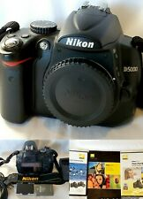 ⭐⭐NIKON D5000 DSLR BODY ONLY⭐ Low Sutter, with 2 BATT+ CHARGER+Book +2 DVD'S