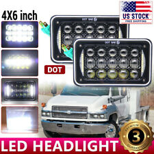 "Black DOT 4x6"" LED Headlight For Chevrolet C10 Kodiak C4500 C5500 Truck Kenworth"