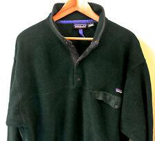 Vintage 1990's Patagonia Synchilla Men's Green Snap-T Pullover Fleece Jacket L