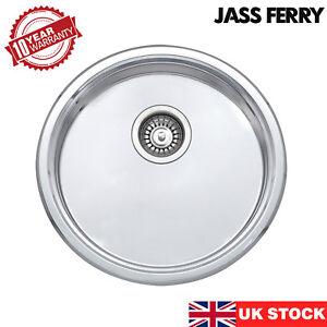 JASS FERRY New 45mm Depth Stainless Steel Drainer Round Bowl Small Sink Kitchen