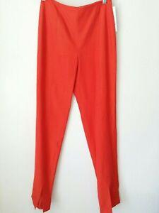 DAVID MEISTER Orange Silk Blend Summer Casual Womens Pants - Size 2 - NWT