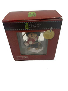 Country Artist Ornament Rottweiler Puppy Dog Christmas NEW