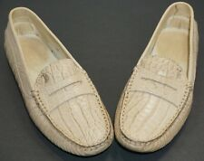 Beautiful J.P. Tod's beige alligator loafers Size 37 (6.5) authentic