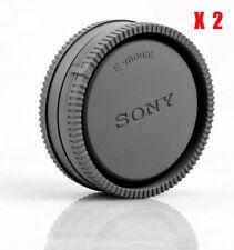 2X Camera Body Cover + Lens Rear Cap for Sony E-mount A6000 A6300 A7R A7S NEX-7