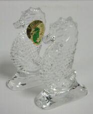 (2) Waterford Crystal Seahorse Sculptures HE774