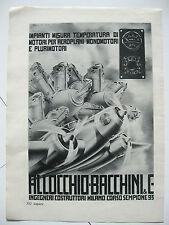 PUBBLICITA ALLOCCHIO BACCHINI stampa antica grafica strumenti misura aerei 1937
