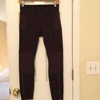 Athleta Trailsetter Pointe Motion Moto Legging Pants Ankle Zipper Ribbed Size 4
