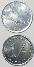 SOMALIA SOMALILAND 1 SHILLING 1994 BIRD FIRST ISSUED  UNC  KM1 21mm Alum COIN