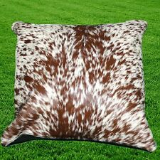 COWHIDE RUG LEATHER CUSHION COVER COW HIDE HAIR ON (16'' x 16'') CUSHION OLC7501