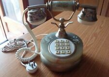 Telefono vintage in marmo onice