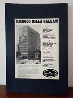 Pubblicità originale Galbani rifilatura da rivista in passepartout