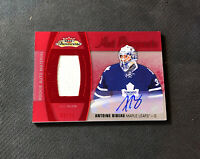 2015-16 FLEER SHOWCASE ANTOINE BIBEAU ROOKIE HOT PROSPECTS JERSEY AUTO #ed 9/25