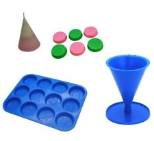Set x 2, Christmas Design Wax Melt Tart Tray and Cone Shaped Candle Mould. S7716