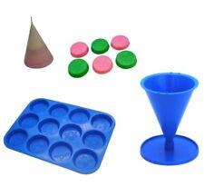 Set x 2, Design di NATALE CERA scioglie CROSTATA VASSOIO E Candela a forma di cono muffa. S7716