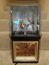 Vintage STAREX Fiber Optic Flower Clock Rotating Motion Lamp Taiwan Tested