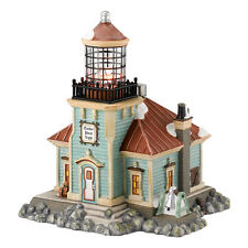 Dept 56 NEV Tucker Point Lighthouse Lit Building 4030701 D56 New England Village