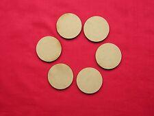 5cm / 50mm  MDF DISC /  CIRCLE -  20 x LASER CUT SHAPE