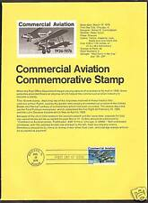 #1684 COMMERCIAL AVIATION Delivery of Mail 1976 Souvenir Page