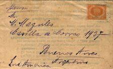 Stampato per Buenos Aires con stemma cent. 5