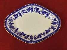 Wedgwood The Sofia Diamond Shaped Gravy Boat Liner or Underplate Blue Grapevines