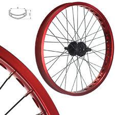 Stars-Cirle BMX BIKE Wheels Wheelset Oversized 20 Inch Red