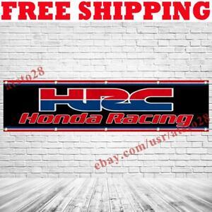 HRC Honda Racing Banner Flag 2x8 ft Car Show Garage Wall Decor Sign 2021 NEW