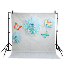 vinyl 5x7ft Photography Background butterfly flowers photo backdrops studio