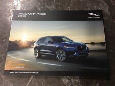 2018 JAGUAR F-Pace 108-page Original Sales Brochure