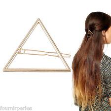 FP Epingle à Cheveux Barrette Pince Triangle Doré Femme Fantaisie 6.2x6.2cm