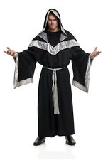 ADULT EVIL DARK SORCERER MEDIEVAL PRIEST WIZARD MONK GOTHIC COSTUME ROBE