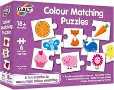 Galt Colour matching 6 x 3  puzzles  18mths +