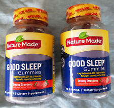 2 Pack NATURE MADE Good Sleep Adult Gummies Dreamy Strawberry 60 ct EX: Aug 2020