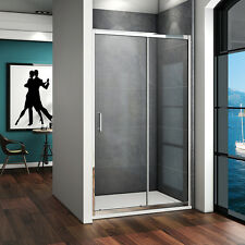 1200x1850mm New Walk In Sliding Shower Enclosure Glass Screen Door