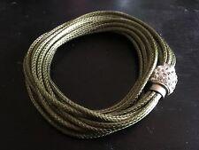 Vert Cuir Amitié Bracelet Multi Couche magnétique Bangle Bracelet