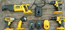 DeWalt 18v Cordless Set w/ batteries & charger Impact Driver Drill Saw Light
