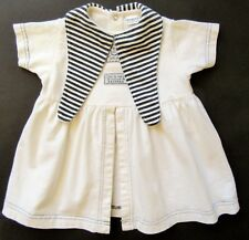 ABSORBA  Baby Girl Dress 9 mo French Black & White Knit 100% Cotton Short Sleeve