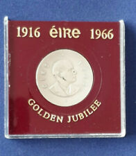 IRELAND 1966 PATRICK PEARSE EASTER UPRISING SILVER 10 SHILLING (deic scilling)