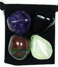 IRRITABILITY Tumbled Crystal Healing Set = 4 Stones + Pouch + Description Card