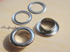 eyelets metal with washer grommets nickel round 40 sets 12 mm G46