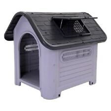 Plastic Dog Kennel Suitable Dogs Cats Both Indoors Outdoors Easy Clean Size 1