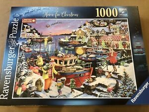 """Ravensburger """"Home For Christmas"""" 2019 Limited Edition 1000 Piece Puzzle"""