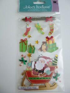 "Jolee's Boutique 10 pcs  ""Santa Sleigh"" Dimensional Stickers"