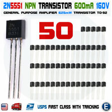 50pcs 2N5401 PNP Transistor 150V 600 mA TO-92 Package USA Seller