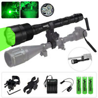 500 Yards Red Green White LED Predator Flashlight Hunting Weapon Zoomable Torch