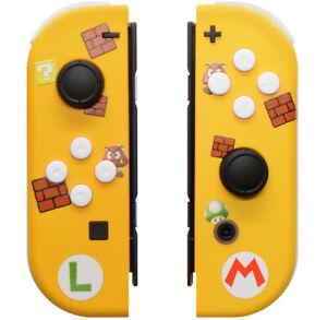 """Super Mario"" Nintendo Switch Custom Joy-Con's Controllers Unique Design"