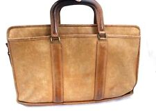 VTG Coach 1970s Distressed Baseball Glove Tan Leather Briefcase Bag R $798