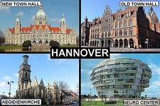 SOUVENIR FRIDGE MAGNET of HANNOVER HANOVER GERMANY
