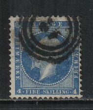 Norway 1856-57 King Oscar I 4sk blue (4) used